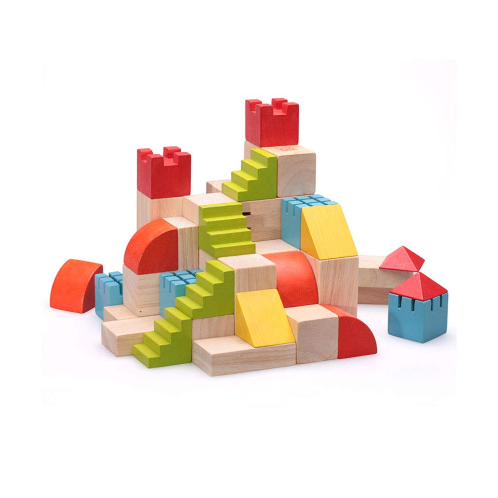 HXGL-Toys Wooden Toy Castle Children's Gift Early Education Puzzle 3-6 Years Old (Color : Multi-Colored) by HXGL-Toys (Image #1)