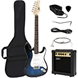 Best Choice Products 39in Full Size Beginner Electric Guitar Starter Kit with Case, Strap, 10W Amp, Strings, Pick, Tremolo Bar (Blue)