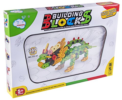 360 Piece Green Triceratops Creative Building Blocks Set
