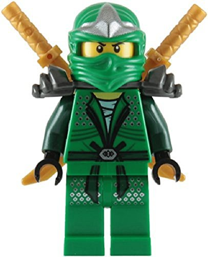 Lloyd ZX (Green Ninja) with Dual Gold Swords - LEGO -