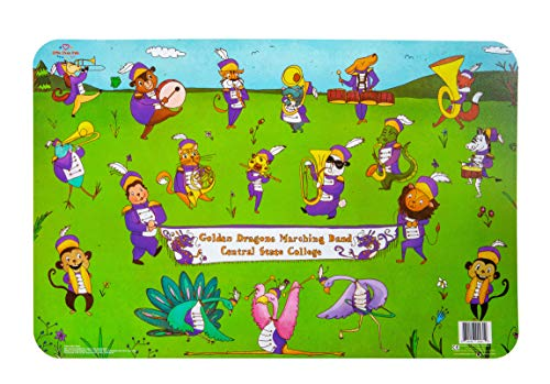 Little Likes Children's Place Mat - Animal Marching Band (Best Hbcu Marching Bands)