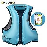 Best Adult Snorkeling Vests - OMOUBOI Inflatable Life Jacket Adult Snorkel Vest Life Review