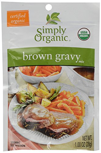 Simply Organic Gravy Mix, Brown, .9-Ounce Packets (Organic Simply Brown Gravy)
