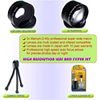 WIDE/TELEPHOTO LENS KIT FOR FUJI S3100 3800 S5100 S5200