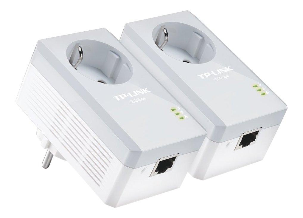 TP-Link AV500 TL-PA4010P KIT - Extensor de red por línea (Passthrough (enchufe incorporado), 500 Mbps Powerline, FastEthernet, Homeplug, eficiencia energética, IPTV, Plug and Play)
