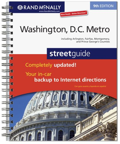 Rand McNally 9th Edition Washington, D.C. Metro street - Center Metro Dc Washington
