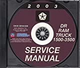 2003 DODGE 1500 2500 3500 TRUCK & PICKUP WORKSHOP REPAIR & SERVICE MANUAL CD - For DR, Ram