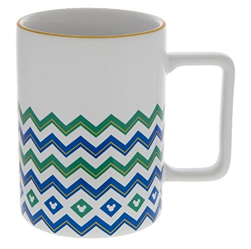 (Disney Parks Blue & Green Mickey Icon Geometric Mug)