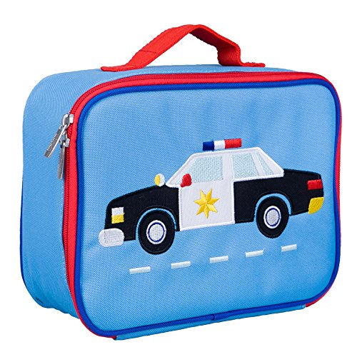 Wildkin Kids Insulated Embroidered Lunch Box for Boys and Girls, Perfect Size for Packing Hot or Cold Snacks for School and Travel, Patterns Coordinate with Our Embroidered Backpacks and Duffel Bags