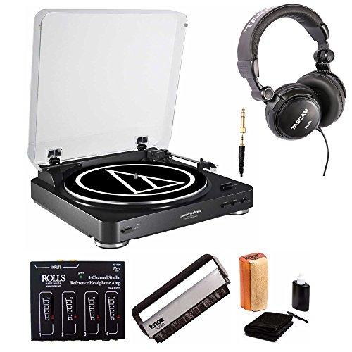 Audio-Technica AT-LP60-USB DJ Turntable Black with Headphone