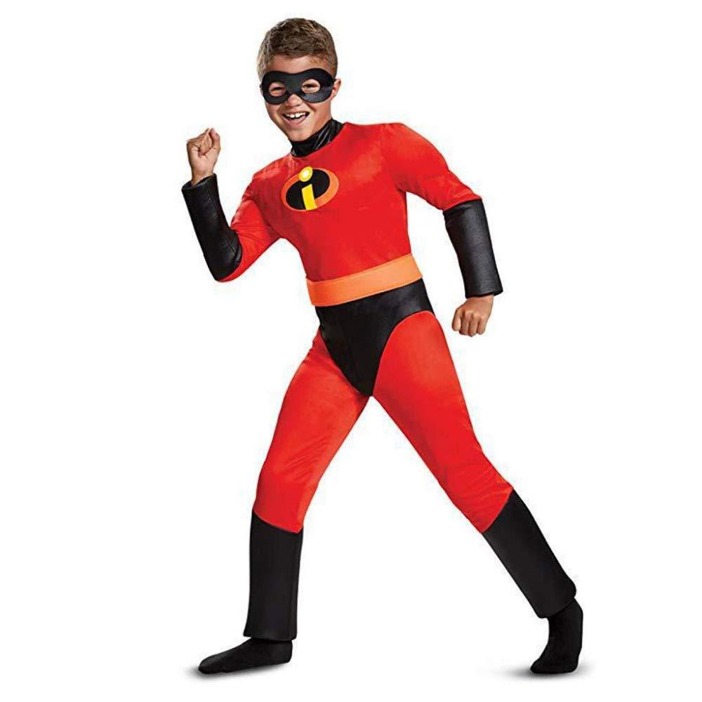 DSFGHE Abbigliamento da Prestazione per Bambini Tuta Stretta Tuta Superman Costume Halloween Puntelli di Trucco per Il Trucco del Partito Vestire,Male-130