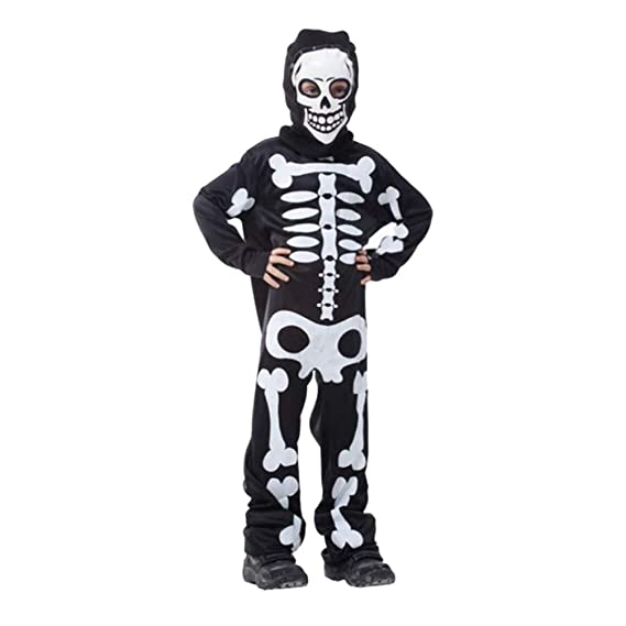 Amosfun Esqueleto Traje niño Esqueleto Traje Conjunto de ...