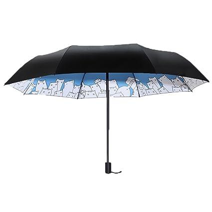 Mujer Hombre Paraguas Viaje Sombrilla para Mujer Simple Impermeable Protección UV Impermeable Paraguas al Aire Libre
