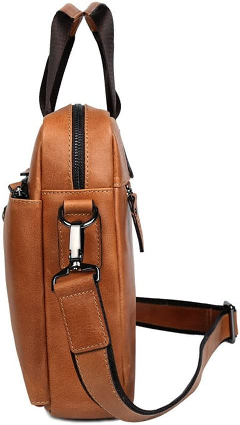 RUNWEI Office Brown Travel Computer Bag Men and Women Business Bag Expandable Multi-Function Computer Bag