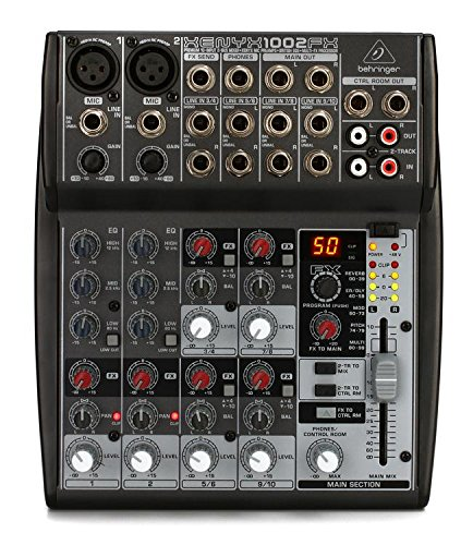 Behringer Xenyx 1002FX Premium 10-Input 2-Bus Mixer with XENYX Mic Preamps, British EQs and Multi-FX Processor by Behringer