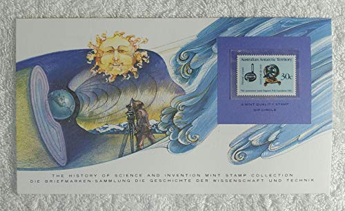 Dip Circle - Postage Stamp (Australian Antarctic Territory, 1984) & Art Panel - The History of Science & Invention - Franklin Mint (Limited Edition, 1986) - Antarctica, South Pole, Earth's Magnetic Field