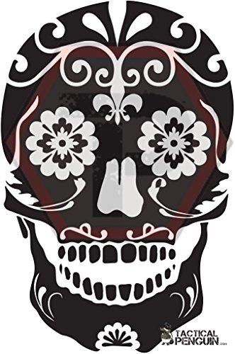 Tactical Penguin Sugar Skull 1 stencil 2 pack for cerakote, gunkote, duracoat Avery paint mask sticky back vinyl -
