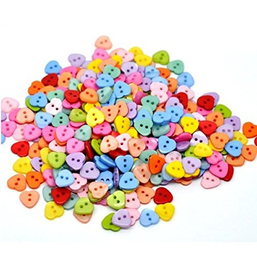 Shaped Multicolor 2 Holes Resin Sewing Buttons for Sewing Scrapbooking Knitting ()