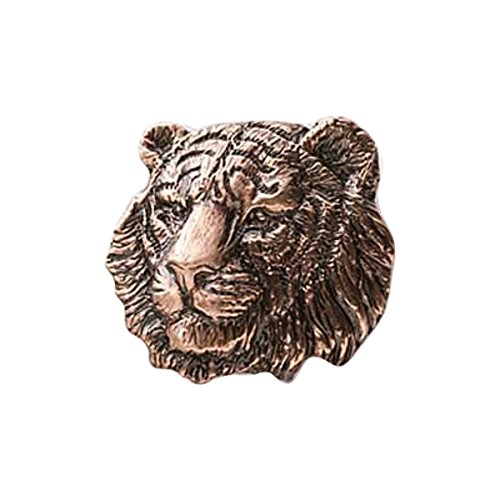 Tiger Pewter (Creative Pewter Designs Pewter Tiger, Handcrafted Lapel Pin Brooch, Copper Plated, MC108)