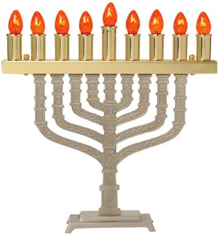 Brass /& Pewter Electric Menorah Knesset Style Spare Bulbs Bulbs ZionJudaica