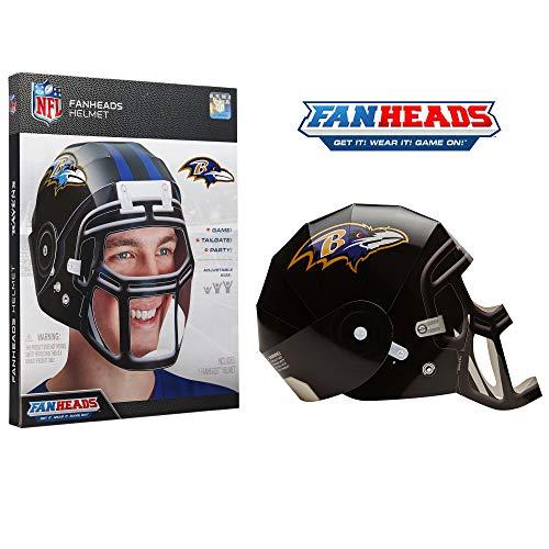 (FanHeads Baltimore Ravens - Wearable NFL Replica Helmets - Pick Your Team!, Black )