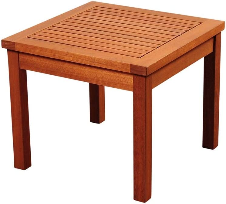 International Home Amazonia Patio End Table in Brown