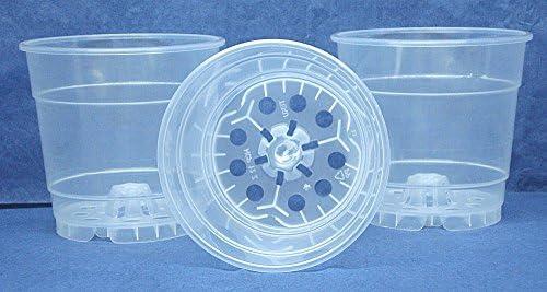 Clear Plastic Pot for Orchids 4 1 2 inch Diameter – Quantity 3