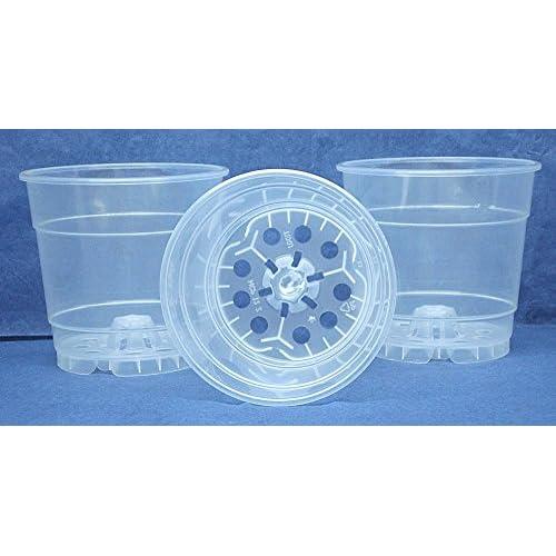 Cheap Clear Plastic Pot for Orchids 4 1/2 inch Diameter - Quantity 3 hot sale