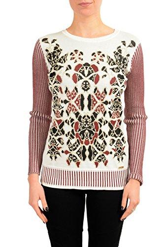 Just Cavalli Women's Designed Crewneck Light Sweater US S IT (Just Cavalli Women Sweaters)