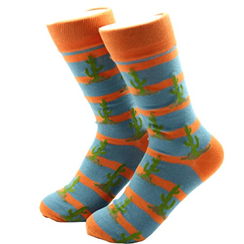Crew Socks,Fashion Combed Cotton Socks,Flamingo Socks,Cactus Socks (Style4) ()