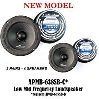 (4) AUDIOPIPE APMB-638SB-C TWO PAIR 6 6.5 SEALED BACK LOUDSPEAKERS CAR AUDIO