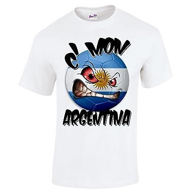 Bang Tidy Clothing Argentina Football Shirts for Men C mon Argentinian Flag  T Shirt Fans Gift  Amazon.co.uk  Clothing a05fa3b56