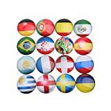 fridge magnet world - LOYALIGHT World Cup Refrigerator Magnets, Map Magnets For Map,Whiteboard Magnets,Office Magnets - 16 Pack Fridge Magnets, 1.18 Inches Diameter, Best Housewarming Home Decorations Gift. (Multi)