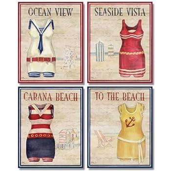 8 x 8 art prints amazoncom 3 pieces vintage swimsuits art framed bathing suit