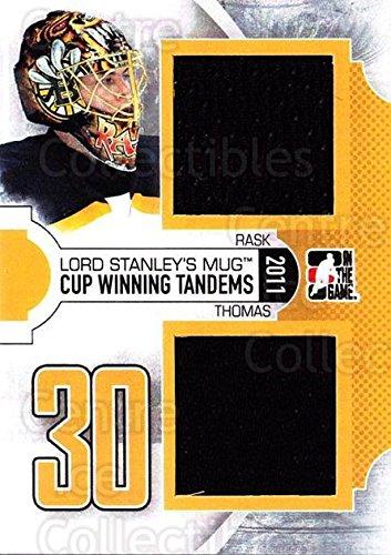 (CI) Tuukka Rask, Tim Thomas Hockey Card 2013-14 ITG Lord Stanley's Mug Tandems Jersey 2 Tuukka Rask, Tim - Hockey Tim Thomas