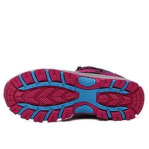 FEOZYZ Women's High Top Waterproof Hiking Boots (40 M EU/8.5 B(M) US, Rose)