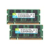 DUOMEIQI 4GB Kit(2X 2GB) DDR2 2RX8 PC2-6400S 800MHz 200pin 1.8v SODIMM Notebook Laptop Memory RAM Modules with
