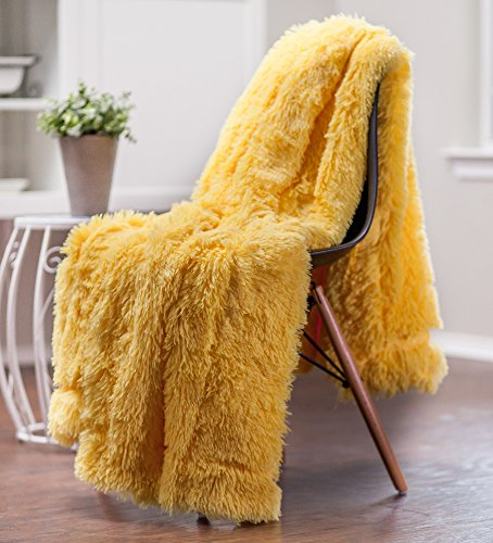 Chanasya Super Soft Shaggy Longfur Throw Blanket Snuggly