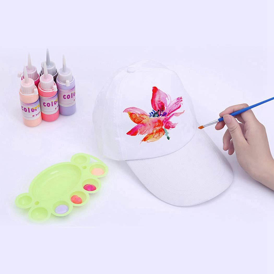 B bangcool DIY Kids Baseball Caps Hats - White DIY Creative Painting Polyester Sun Hat Sports Cap for Kids Aged 3-12 yrs Old (10PCS)