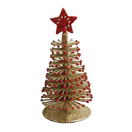 Wenini Mini Christmas Tree Decorations - Artificial Tabletop Mini Christmas Tree Decorations Festival Miniature Xmas Tree - 17X9CM -