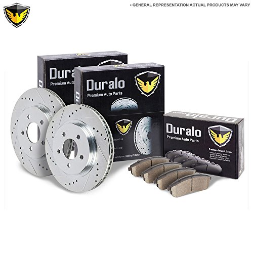 New Duralo Rear Brake Pad Rotor Kit For Audi A4 2002 2003 2004 2005 2006 - Duralo 153-1340 New (Audi A4 Quattro Cooling)