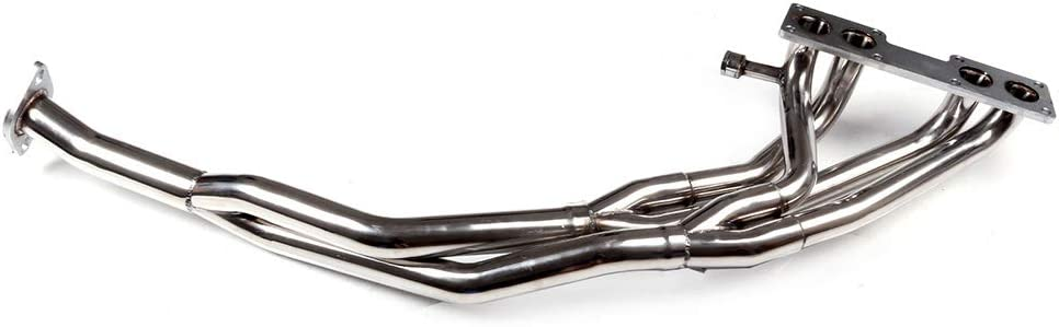 cciyu Stainless Steel Exhaust Manifold Kit Fits 1989-1990 Nissan 240SX S13 Sohc KA24 TRI-Y