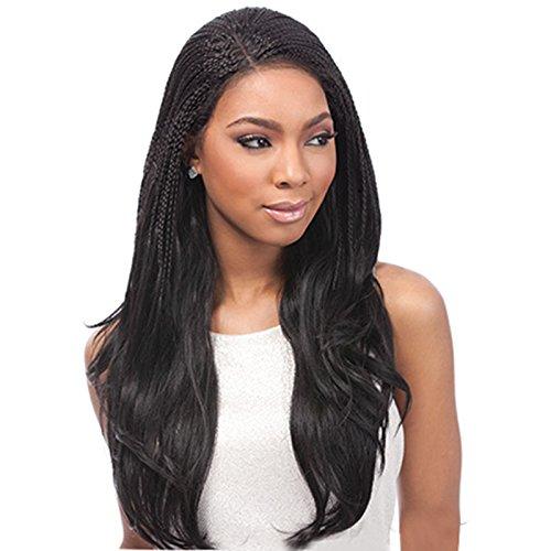 Price comparison product image Braided Wig. Empress Lace Wig- Senegalese J Curl Braids, Black Colour 1B.
