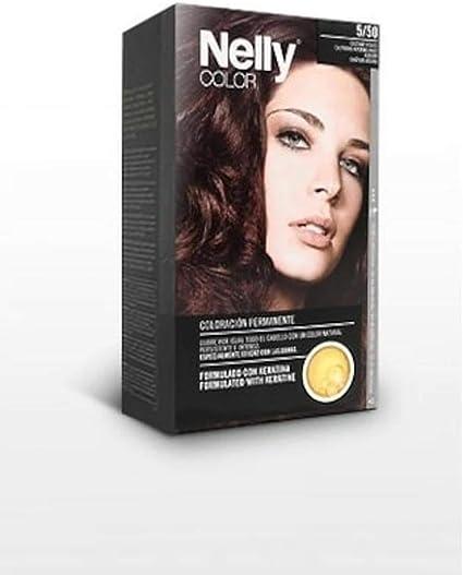 NELLY TINTE N.5/50 CASTAÑO ROJIZO: Amazon.es: Belleza