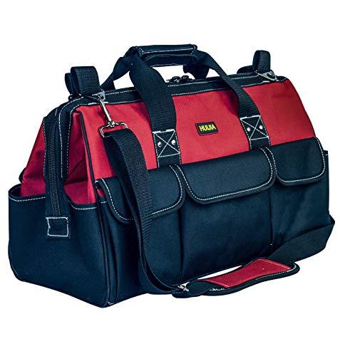 - HUIJIA 19-inch Tool Bag with Wear-Resistant Hard Bottom Waterproof Tool Organizer Bag with Adjustable Shoulder Strap