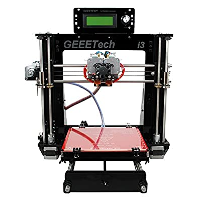 Geeetech Latest Acrylic I3 Pro C Dual Extruder 3D Printer Support 5 Materials +1KG Free PLA Filament