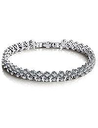 Jade Angel Swarovski Elements Cubic Zirconia Bracelet for Women Wedding Jewelry