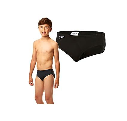 e7273c2660c32 Speedo Endurance+ Trunks Boys Swim Trunk Brief Swimming Black White 4 Years  22
