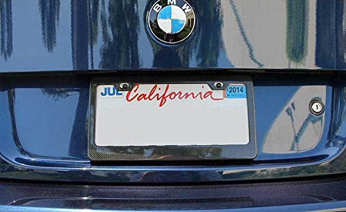 Tag 100/% Real Premium Quality 3D Twill Weave Lightweight Fits All USA /& Canada Car WTG JDM Universal 1pc Racing Genuine Real Carbon Fiber Front Back License Plate Frame
