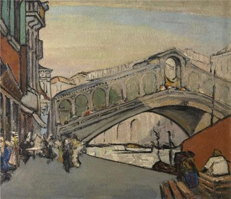 Pink Panther Costume Rental (The High Quality Polyster Canvas Of Oil Painting 'Jules Schmalzigaug - The Rialto Bridge In Venice, 20th Century' ,size: 10x12 Inch / 25x30 Cm ,this Amazing Art Decorative Prints On Canvas Is Fit For Dining Room Artwork And Home Gallery Art And Gifts)